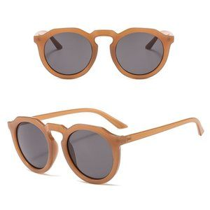 Classic Vintage Style Shades Unisex Round BROWN